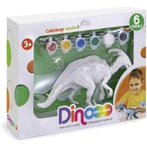 Brinquedo Dinossauro Dino Para Colorir Parassaurolofo Xplast -