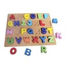 Brinquedo Educativo Alfabeto De Encaixar Infantil Divertido Didático - Dm Toys