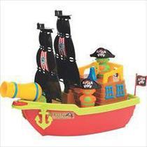 Brinquedo Educativo Barco Aventura Pirata 43CM. - Merco Toys