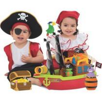 Brinquedo Educativo Barco Aventura Pirata Didatico Infantil Lança Bolinha - Merco Toys