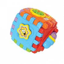 Brinquedo educativo bebê 6 meses com som smart cube - Maral brinquedos