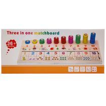 Brinquedo Educativo com Encaixe e Ábaco Aberto 20030 - Real