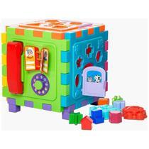 Brinquedo Educativo Cubo Didático Grande 2 Em 1- MERCOTOYS -