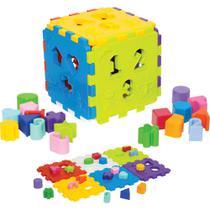 Brinquedo Educativo Cubo Didático Mercotoys -