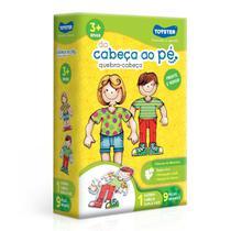Brinquedo Educativo Da Cabeça Aos Pés Quebra Cabeça Menino Menina 3 Anos Pedagógico - Toyster