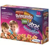 Brinquedo Educativo de Madeira Brincando com Letras 36 Peças - 34378 - Xalingo -