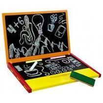Brinquedo Educativo De Madeira Notebook Lousa Laranja - NewArt -