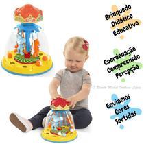 Brinquedo Educativo Didático Infantil Bebês Carrocel Mágico - Calesita Tateti