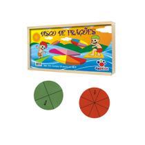 Brinquedo Educativo Disco de Frações CiaBrink -