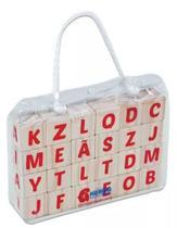 Brinquedo Educativo em Madeira - Cubo Letras - Hergg -