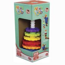Brinquedo Educativo Giro Mágico 8 Peças Dismat MK326 -