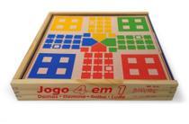 Brinquedo Educativo Jogo 4 Em 1 Damas Trilha Ludo Domino - Jottplay