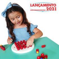Brinquedo Educativo Jogo Bancada Memória Das Cores Madeira 2 em 1 Menino Menina 3 Anos - Carimbras