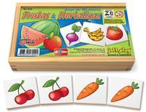 Brinquedo Educativo Jogo De Memória Frutas E Hortaliças 40 Peças - JOTTPLAY -