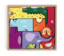 Brinquedo Educativo Monte e Empilhe Safari (Animais) Jogo de Empilhar e Montar Divertido 4+ - Babebi