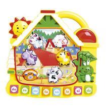 Brinquedo Educativo Musical Didático Casinha Som e Luzes - Dm Toys
