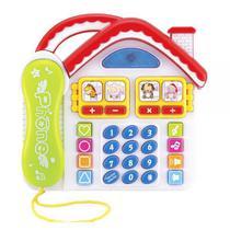 Brinquedo Educativo Musical Didático Telefone Divertido Som e Luzes - Dm Toys