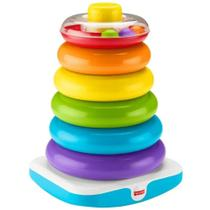 Brinquedo Educativo - Piramide de Argolas Gigante - Fisher Price MATTEL - Fisher-Price