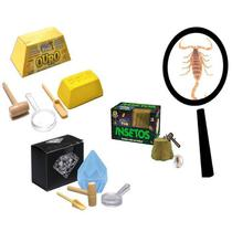 Brinquedo Escava Prêmio Diamante Ouro Insetos DTC -