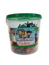 Brinquedo forte apache no balde 37 peças gulliver -