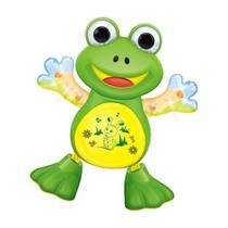 Brinquedo Frog Dancing Toca Música e Dança Com Led's ref. 821183 - Outras Marcas