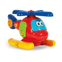 Brinquedo Helicóptero Bebê Colorido Didático Poliplac Avião -