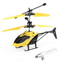 Brinquedo Helicóptero Com Luz e Indução Infravermelha Voa - Toy King
