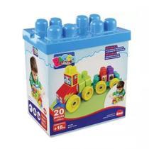Brinquedo Infantil Bloco Cargo 20 Peças Dismat 2069 - Candide