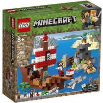 Brinquedo Infantil Blocos De Montar a Aventura Do Barco Pirata 386 Peças 21152 Lego -