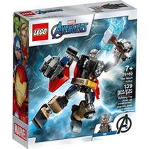 Brinquedo Infantil Blocos De Montar Boneco Com Armadura Robo De Thor 139 Peças 76169 Lego -