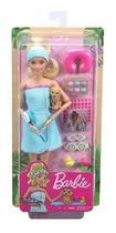 Brinquedo Infantil Boneca Barbie Fashionista Dia De Spa Loira Toalha Azul Mattel -