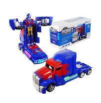 Brinquedo Infantil Caminhão Optimus Prime Transformers Robô - Toy King