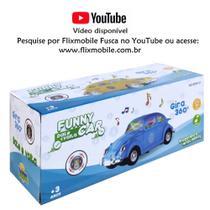 Brinquedo Infantil Carrinho Bate e Volta e Gira 360º Fusca com Som e Luz Azul - Barcelona