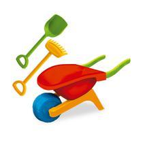 Brinquedo infantil carriola beach play divertido colorido - Usual Plastic