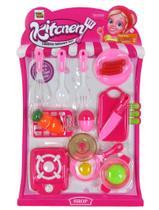 Brinquedo Infantil Comida Cozinha Utensílios Panela Faca Ovo - Toy King