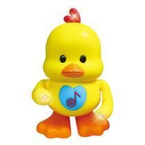Brinquedo Infantil Dancing Pato Anda Dança Mexe Os Braços  Acende Luzes - Dm Toys