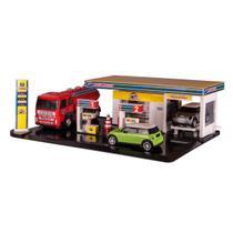 Brinquedo Infantil Didático Poliposto Poliplac - Com Carrinhos e Caminhão Tanque -