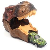 Brinquedo Infantil Dinossauro Lançador com 2 Carrinhos - Ark Toys