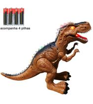 Brinquedo Infantil Dinossauro T-rex Com som e luz + 4 Pilhas - Toy King