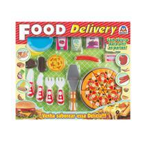 Brinquedo Infantil Food Delivery Pizza Braskit Colorido -