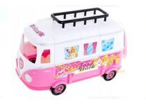 Brinquedo infantil Food Truck Boneca Troca Roupa Carro Cadeira Acessórios Beauty Kombi Diversão - Emporio Magazine