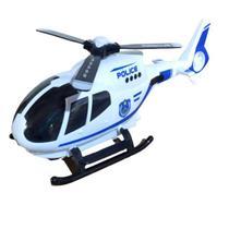 Brinquedo Infantil Helicóptero da Polícia Eletrônico Bate e Volta Luzes Sons - Barcelona