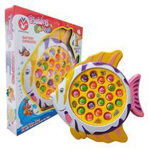 Brinquedo Infantil Jogo de Pescaria Criança Motorizado Pesca Com 21 Peixes Polibrinq -