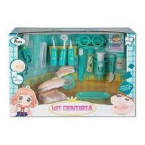 Brinquedo Infantil Kit Profissao Dentista Grande Azul Fenix -