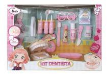 Brinquedo Infantil Kit Profissao Dentista Grande Rosa Fenix -