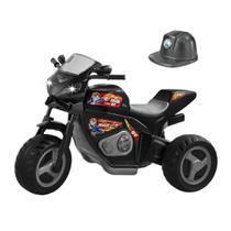 Brinquedo infantil meninos moto eletrica max turbo preta - Magic Toys