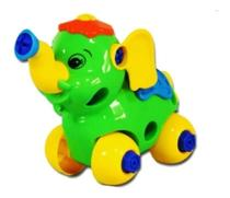 Brinquedo Infantil Monta e Desmonta Educativo Seguro Elefante Colorido Coordenação Motora - Emporio Magazine