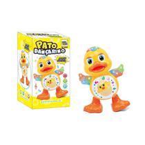 Brinquedo Infantil Pato Dançarino Patinho Musical com luz - King