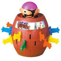 Brinquedo Infantil Pula Pirata com Barril Jogo - Futuro Kids
