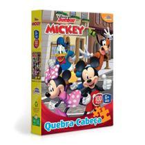 Brinquedo Infantil Quebra Cabeça 100 Peças Mickey Disney Toyster -